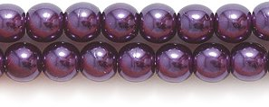 Preciosa Ornela Imitation Round Glass Pearl, 4-mm, Luster Dark Amethyst On Crystal, 200-Pack