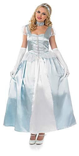 fun shack Womens Princess Costume Royal Blue Fairytale Queen Gown Dress - Medium ()