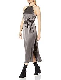 Women's Sleeveless Racer Back Satin Slip Dress