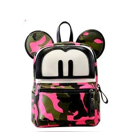 2-in-1 Mouse Ear 3D 9in Cross-body bag/Mini Backpack - Interchangeable Travel Mini Handbag with Long Shoulder Strap]()