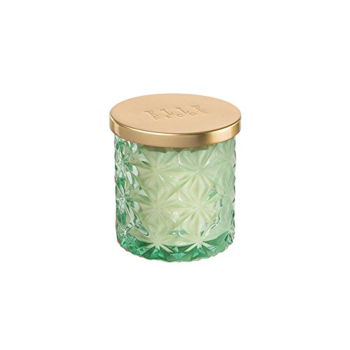 - Elle Decor Embossed Glass Candle 7 Ounce-Sea Salt and Tea, Mint