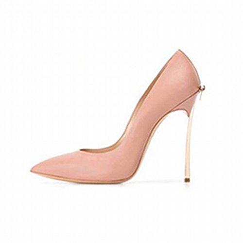 Zapatos de Tacón Alto con Zapatos Sex Puntiagudos Femeninos F