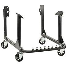 JEGS 80064 Black Steel Engine Cradle w Wheels 750 lbs Capacity Small & Big Block