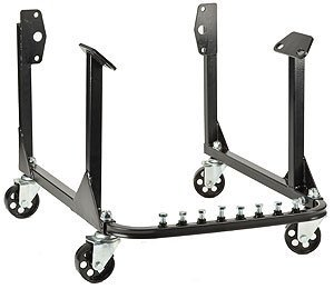 JEGS 80064 Black Steel Engine Cradle w Wheels 750 lbs Capacity Small & Big - 750 Engine