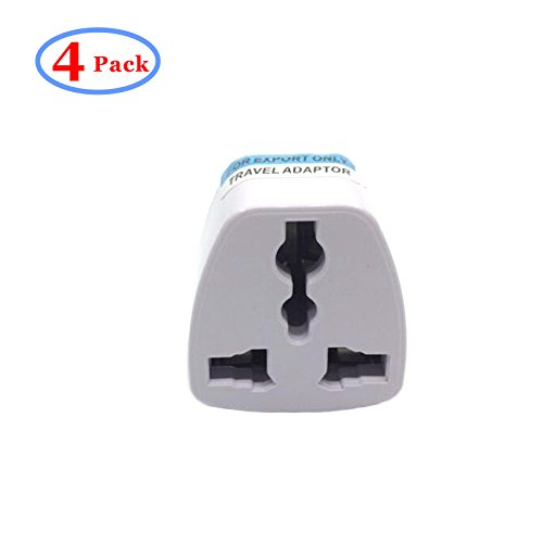 Travel Power Adapter,High Performance Universal UK/EU/ AU to US Adapter Travel Power Adapter Convert - 4 Pack