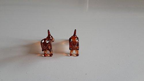 Dachshund (dog) Figure Dollhouse Miniatures Animals Brown Collectible Figurine