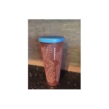 c6f0bdfe03f Starbucks 2018 Iced Venti SUMMER Tumbler Coral Orange Lt Blue 24oz NWT