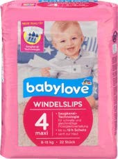 babylove Pants Windelslips Grö ß e 4 maxi, 8-15kg, 1 x 22 St