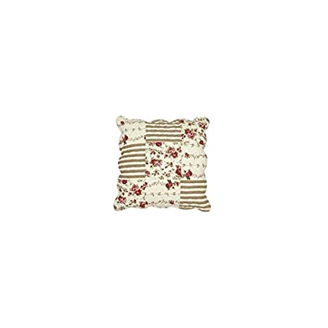 Clayre /& Eef Kissenbezug Quilt Grau Kissenhülle 40 x 40 Shabby Landhaus