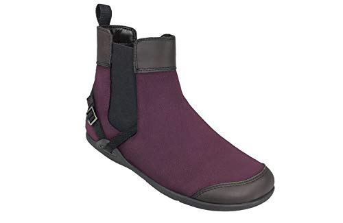 - Xero Shoes Vienna - Women's Canvas Ankle Boots - Barefoot Inspired Minimalist Zero Drop Chelsea Style Boot - Merlot