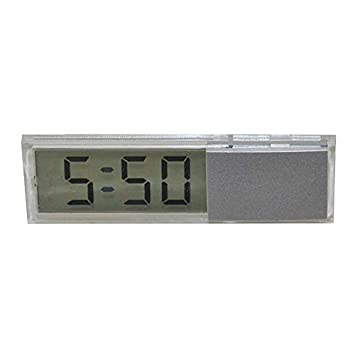 Konesky Car Glass Windows Clock Reloj electrónico con lechón Mini Stick-on Watch: Amazon.es: Electrónica