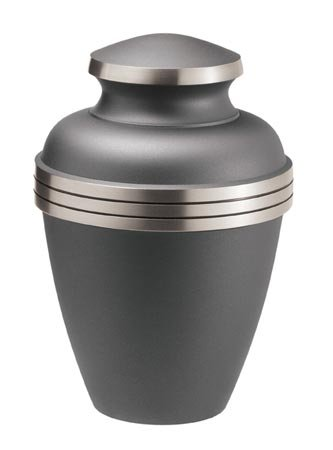 MEMORIALS 4U Ashen Pewter Cremation Urn - Brass Urn for Human Ashes - Large Pewter Urn - Handcrafted Affordable Urn for Ashes - Adult Urn with Free Bag