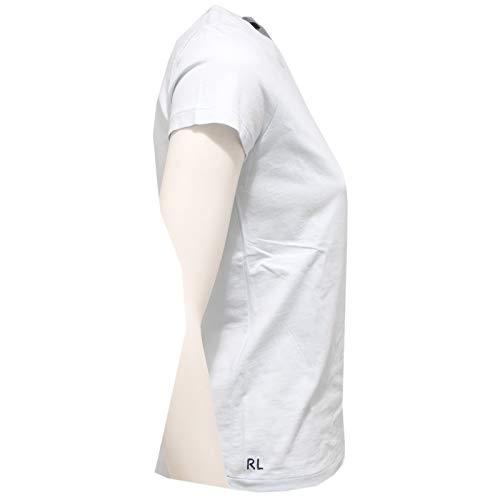 Donna Woman Lauren Azzurro Maglia T Blue Light shirt Cotton 9464y Ralph 1tqS7Pf1
