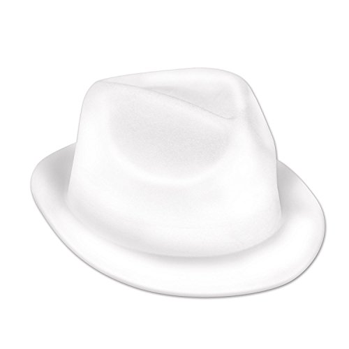Party Central Club Pack of 25 Halloween Classy 20s Musician White Velour Chairman Hat -