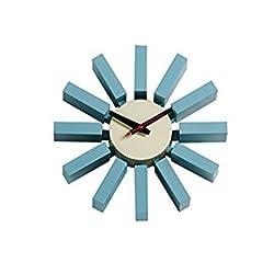 Geroge Nelson Block Clock in Blue