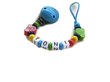Cadena para chupete niño con nombres * Auto *: Amazon.es: Bebé