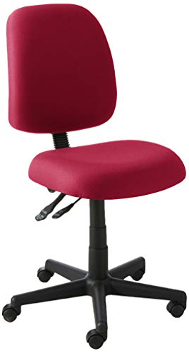 - OFM Posture Series Armless Mid Back Task Chair - Stain Resistant Fabric Swivel Chair, Wine (118-2)