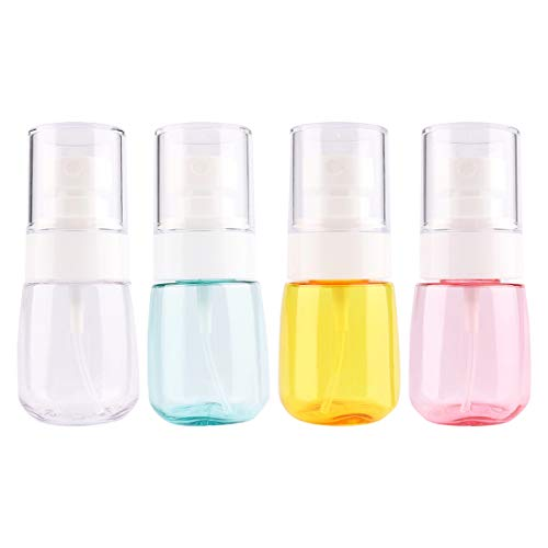 - Driew Travel Size Spray Bottle, 30ml/1oz Refillable Mini Fine Mist Spray Bottles Set for Essential Oil Cosmetic Makeup Water Container Pack of 4 with Organize Bag