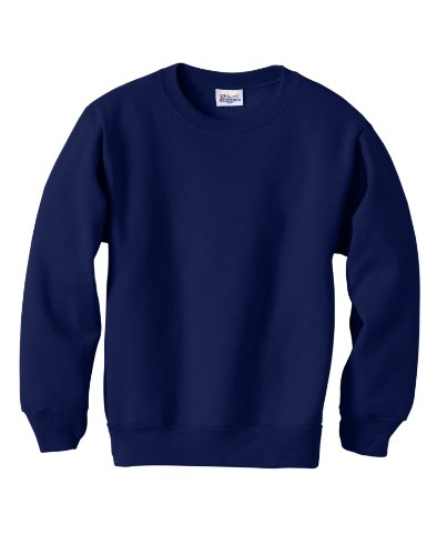 (Hanes - Youth Comfortblend Crewneck Sweatshirt, P360, Deep Navy, XS)