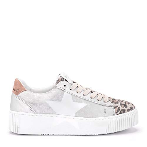 Sneaker In Cosmopolitan Pelle Rubens Puntale Argent Uk Taille Nira Argento vq5xtnx