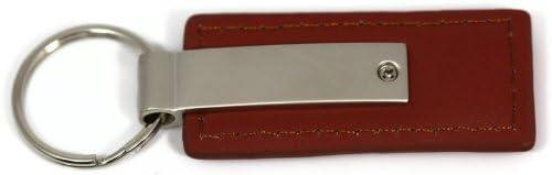 DanteGTS Jeep Grill Leather Key Chain Brown Rectangular Key Ring Fob Lanyard