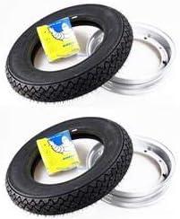 2 Räder Komplett Montiert Für Vespa 50 Hp Mit 2 Felgen 2 Reifen Michelin S83 Größe 3 00 10 42j 2 Schläuche Auto