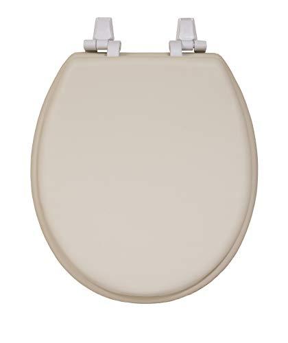 - Centoco HPS20-106 Soft Round Toilet Seat, Padded Vinyl Plastic, Bone