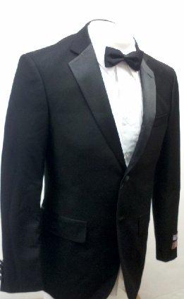 New Men's 5 Piece (Shirt, Bowtie & Cummerbund) Super 140's Slim Fit Tuxedo Suit