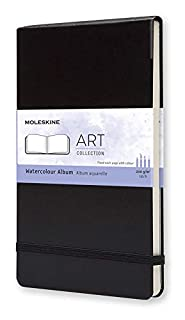 "Moleskine Art Watercolor Album, Hard Cover, Large (5"" x 8.25"") Plain/Blank, Black (8883705629) | Amazon Products"