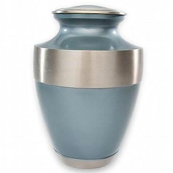 Beautiful Life Urns Athens Blue Custom Cremation Urn Engravable Funeral Urn Large