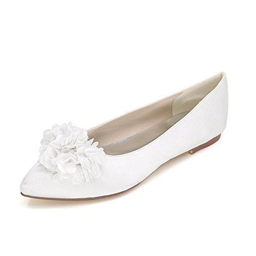 L@YC Zapatos De La Boda De La Mujer Zapatos Planos De La Boda Zapatos De La Boda / Del Partido Y De La Boda MáS Colores White