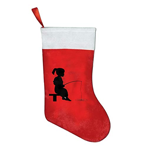 RobotDayUpUP Little Girl Fishing Christmas Santa Stocking Decorations and Toys Stock