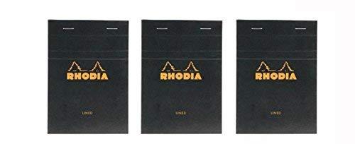 Rhodia Classic Black Notepad 4X6 Lined, Pack of 3 [並行輸入品]   B07TBSMDD2