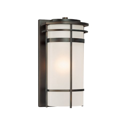 Capital Lighting 9882OB Lakeshore 1-Light Outdoor Wall Lantern, Olde Bronze with Frosted Glass