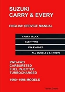 suzuki carry every english factory service manual james danko rh amazon com suzuki f6a service manual download suzuki f6a service manual download
