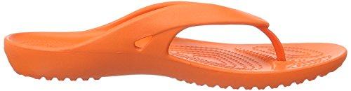 Crocs Kadeeiiflipw, Pantuflas para Mujer Rosso (Tangerine)