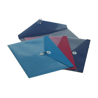 Pendaflex Products - Pendaflex - ViewFront Standard Pocket Poly Booklet Envelope, 11 x 9 1/2, 4/Pack - Sold As 1 Pack - Moisture resistant polypropylene. - Horizontal, file-style orientation. - Full-sized back pocket. - Elastic string and riveted button closure. -
