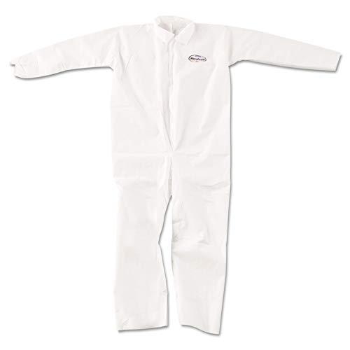 KleenGuard 49004 A20 Breathable Particle-Pro Coveralls, Zip, X-Large, White (Case of 24)