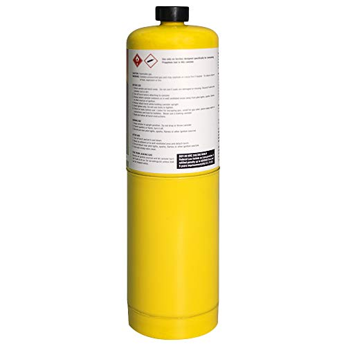 Pack of 2, BLUEFIRE Modern MAPP Gas Cylinder, 16.1 oz, 14% More Bonus Fuel than MAP/PRO, Hotter than Propane! Variation of Quantity Bundles Available (2) by MR. TORCH (Image #3)