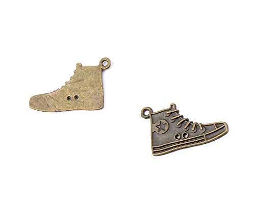 10 PCS Ancient Antique Bronze Fashion Jewelry Making Crafting Charms Findings Bulk for Bracelet Necklace Pendant Retro Accessoires Lots Vintage ZEJ07 Sports Shoes