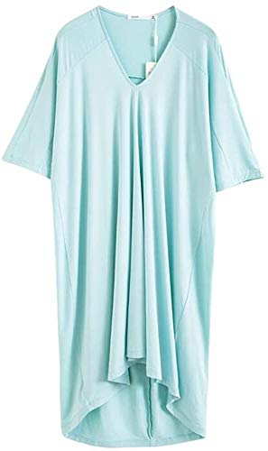 YIWANGO Pajamas New Modal Women Dress Summer Loose Large-Size Short Sleeve Sexy Lingerie Summer Simple Home Pajama Suit…