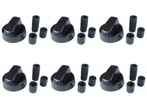 Spares2go Control Knobs//Dials for Candy Oven Cooker /& Hob Pack of 4 + Adaptors, Black