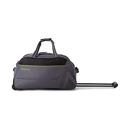 Aristocrat Dale Polyester 60.6 Cms Grey Travel Duffle with Corner Guards