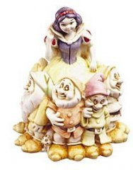 Harmony Kingdom Snow White Fairest One of All Disney Princess and 7 Dwarfs Signed by Martin Perry