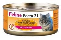 FELINE Porta gato Forro Feline Porta 21 Atún Plus surimi 156 g, 6 unidades (