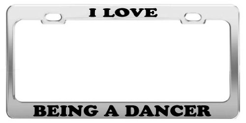 license plate frame dancer - 9