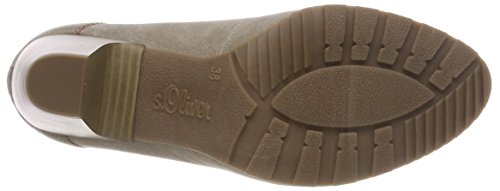 Oliver Taupe Tacón para Mujer Beige de s 22404 Zapatos fPdWUq88w