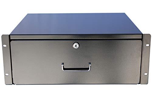 New 2U / 3U / 4U Drawer Rack Mount DJ 19'' Rack Case Equipment Deep Drawer Key Lockable (3U) (Dj For Equipment Rack)