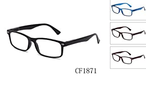 Newbee Fashion - Unisex Translucent Simple Design No Logo Clear Lens Glasses Squared Fashion Frames