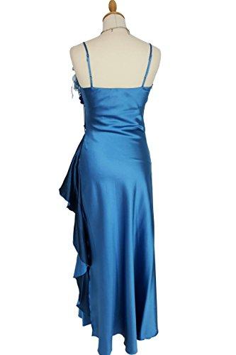 mit amp; Gr Farben Strassburg Knöchellanges Ballkleid blau Jeans vers 44 JuJu und 34 Träger Beinschlitz Christine Abendkleid xSgwdwYq